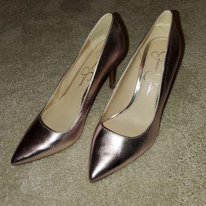 Jessica Simpson rose gold heels, size 6